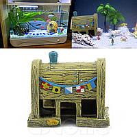 Домик Губка Боб Крабсбургер декор аквариума