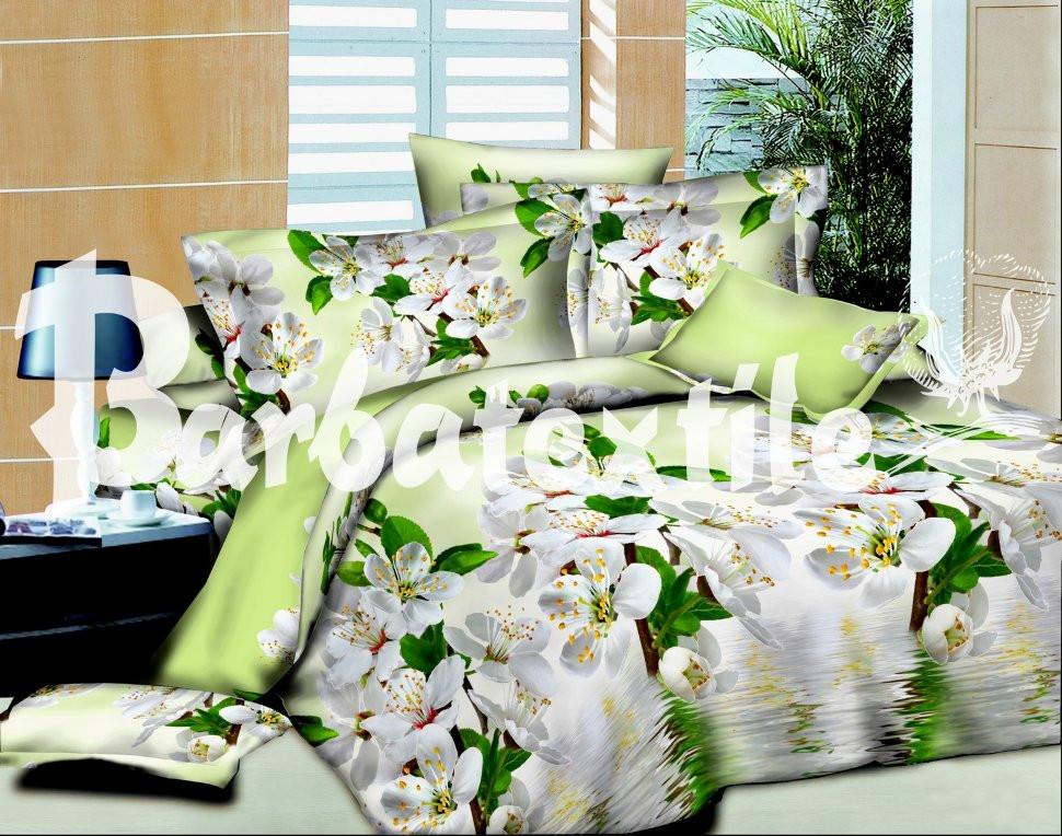 Полуторный набор постельного белья из Ранфорса №172 Черешенка™