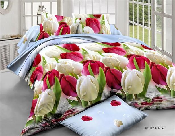Полуторный набор постельного белья из Ранфорса №198 Черешенка™