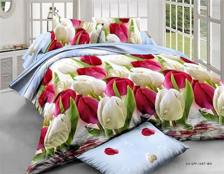 Полуторный набор постельного белья из Ранфорса №198 Черешенка™, фото 2