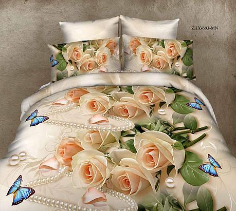 Полуторный набор постельного белья из Ранфорса №199 Черешенка™, фото 2