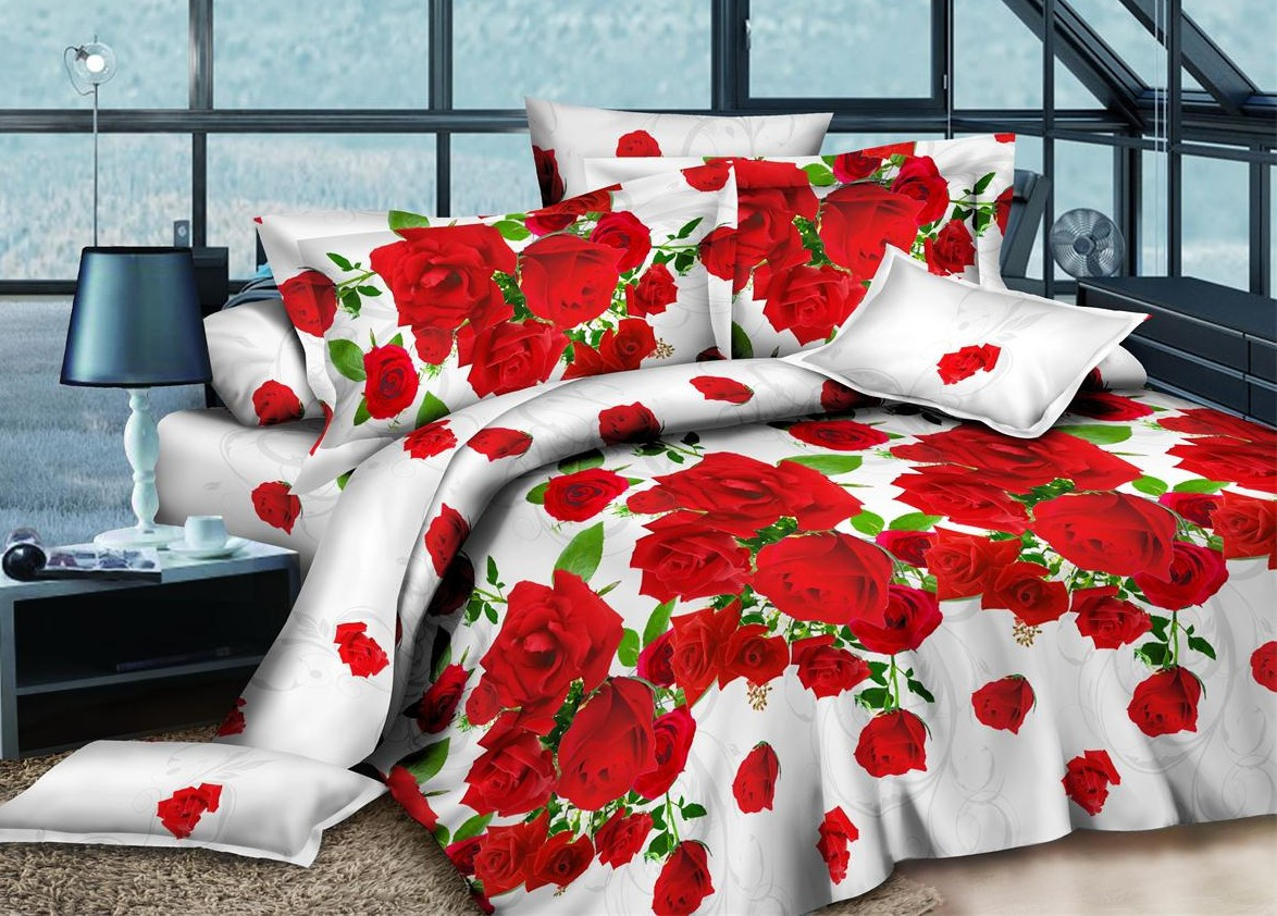 Полуторный набор постельного белья из Ранфорса №200 Черешенка™
