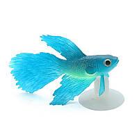 Рыбка люминесцентная декор аквариума, фото 1