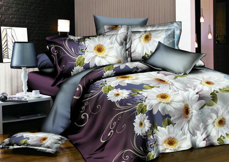 Полуторный набор постельного белья из Ранфорса №201 Черешенка™