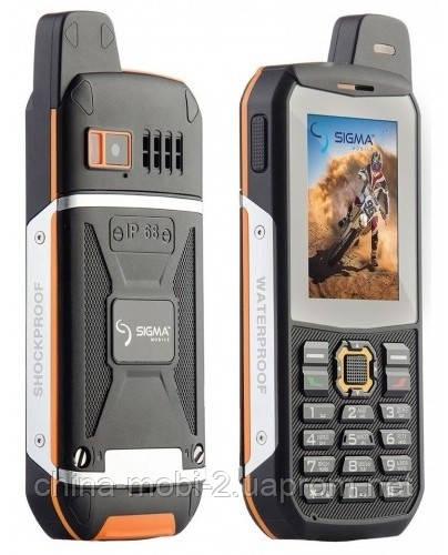 Телефон Sigma X-style 3 sim IP68 Black-Orange  X-treme