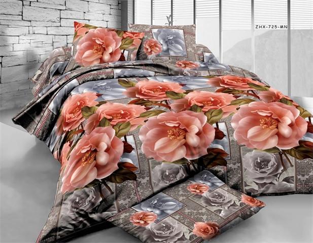 Полуторный набор постельного белья из Ранфорса №204 Черешенка™