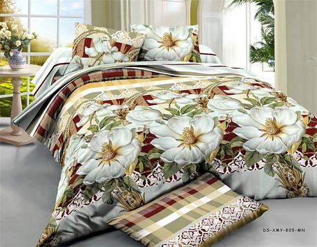 Евро набор постельного белья 200*220 из Ранфорса №205 Черешенка™, фото 2