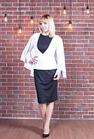 Красивый женский пиджак-пончо белого цвета