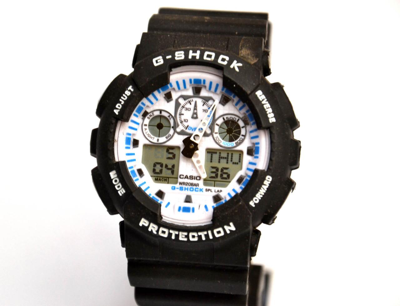Наручные часы  Черные с белым