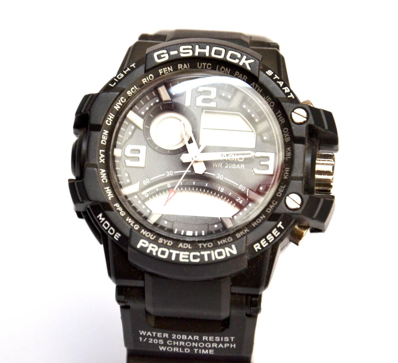 Наручные часы  WR20M черные с белым