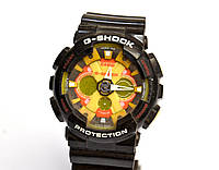 Наручные часы  GA-200 черные с оранжевым