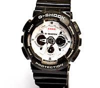 Наручные часы  GA-200 черные с белым