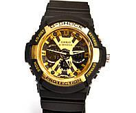 Наручные часы  GA-200 черные с золотым