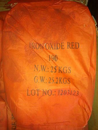 Пигмент железоокисный красный 190 для плитки и бетона