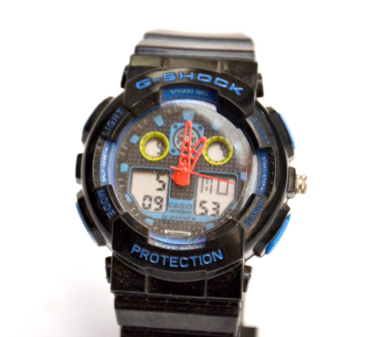 Часы наручные  Protection Черные с синим