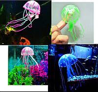 Медуза люминесцентная декор аквариума синий цвет, фото 1
