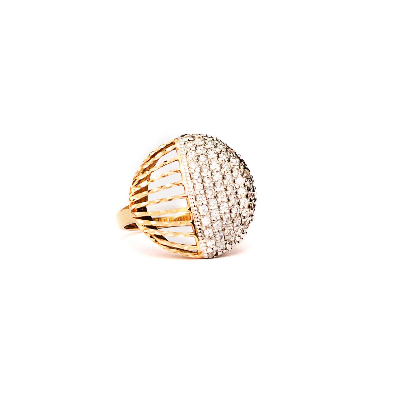 Золотое кольцо с фианитами 85020