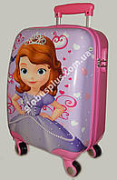 """Детский чемодан дорожный, кодовый замок,  """"Josef Otten"""" Sofia the first на четырех колесах 520275"""