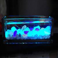 Камень светящийся фосфорный для аквариума 10 шт голубой, фото 1