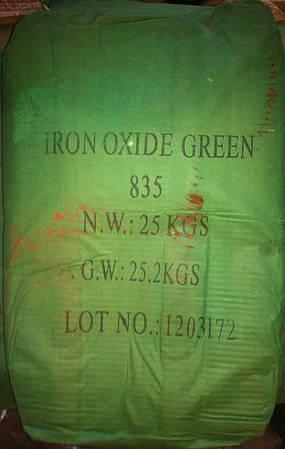 Пигмент железоокисный зеленый 835 для плитки и бетона
