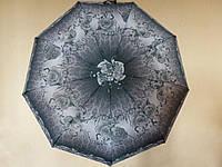 Зонт женский  Lantana 1256 полный автомат Серый с серыми розами