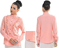 Красивая осенняя блуза с рюшами