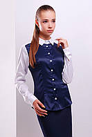 Блузка в сине-белых тонах