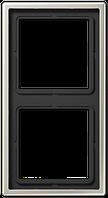 Рамка 2-я Jung LS 990 Aluminium