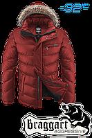 Куртка зимняя на меху мужская Braggart Aggressive - 4219M оранжевая