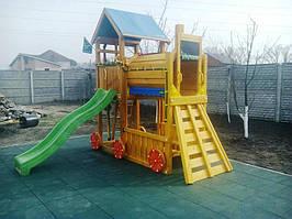 Резиновая плитка для детской площадки 1