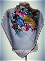 Шелковый платок Фантазия голубой