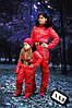 Детский комбинезон на девочку на утеплителе 200 со сьемным капюшоном красный 7-132/2 АМ