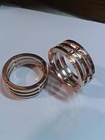 Обручальные кольца белое и розовое золото