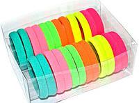 Большие бесшовные резинки для волос 24 шт. яркие цвета