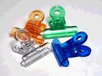 Прищепки для зажима ногтей (создания арки) пластиковые цветные, 10 шт.