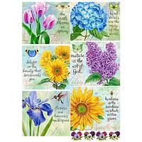 Бумага для декупажа 21х30 см Яркие цветы