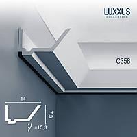 ORAC Decor C358 LUXXUS карниз для скрытого освещения потолочный багет угловой молдинг лепнина из полиуретана 2 м