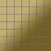 Мозаика из цельного металла шлифованный титан Gold золотого цвета толщиной 1,6 мм ALLOY Attica-Ti-GB