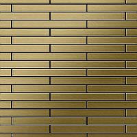 Мозаика из цельного металла шлифованный титан Gold золотого цвета толщиной 1,6 мм ALLOY Avenue-Ti-GB