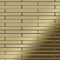 Мозаика из цельного металла зеркально полированный титан Gold золотого цвета толщиной 1,6 мм ALLOY Avenue-Ti-GM