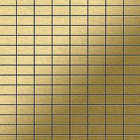 Мозаика из цельного металла шлифованный титан Gold золотого цвета толщиной 1,6 мм ALLOY Bauhaus-Ti-GB