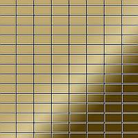 Мозаика из цельного металла зеркально полированный титан Gold золотого цвета толщиной 1,6 мм ALLOY Bauhaus-Ti-GM