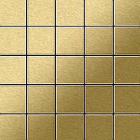 Мозаика из цельного металла шлифованный титан Gold золотого цвета толщиной 1,6 мм ALLOY Century-Ti-GB