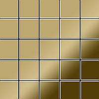 Мозаика из цельного металла зеркально полированный титан Gold золотого цвета толщиной 1,6 мм ALLOY Century-Ti-GM