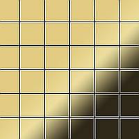Мозаика из цельного металла прокатная латунь золотого цвета толщиной 1,6 мм ALLOY Cinquanta-BM