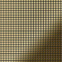 Мозаика из цельного металла зеркально полированный титан Gold золотого цвета толщиной 1,6 мм ALLOY Glomesh-Ti-GM