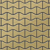 Мозаика из цельного металла шлифованный титан Gold золотого цвета толщиной 1,6 мм ALLOY Kismet-Ti-GB | дизайнер Карим Рашид