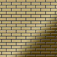 Мозаика из цельного металла зеркально полированный титан Gold золотого цвета толщиной 1,6 мм ALLOY PK-Ti-GM