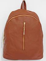Рюкзак модный кож.зам рыжий, фото 1