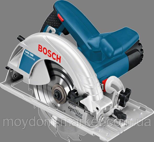 Пила дискова Bosch GKS190 Prof. циркул.ручна (1,4кВт; 190х30мм; гл.70мм; 4,2кг) 0.601.623.000